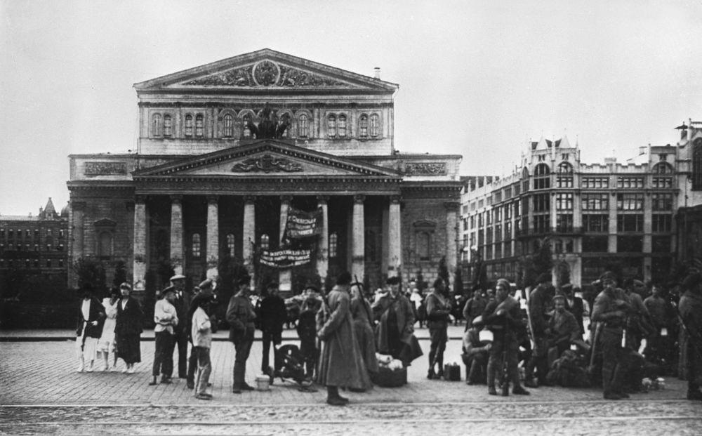 莫斯科大剧院,1918年。