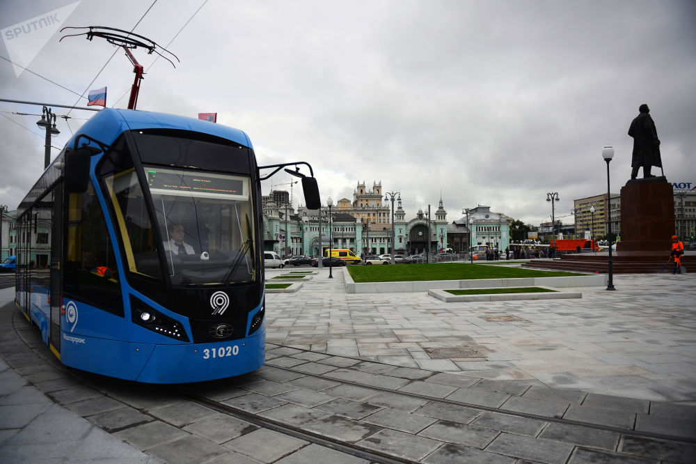 莫斯科的有轨电车,2017年。