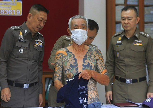 泰国警方扣押一名日本黑帮头子