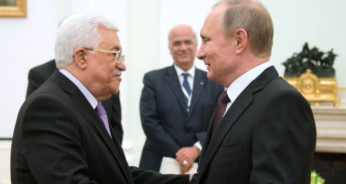 克宮:普京和阿巴斯將在索契會晤期間討論中東局勢調解問題