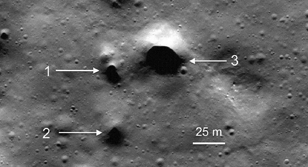 美國宇航局的探測器在月球上發現了滅絕的火山痕跡