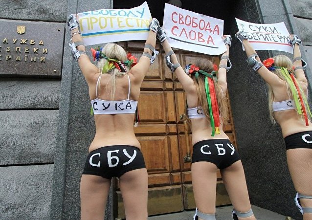 烏克蘭女權組織「費曼」(Femen)(資料圖片)