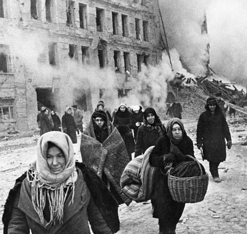 被圍困的列寧格勒居民