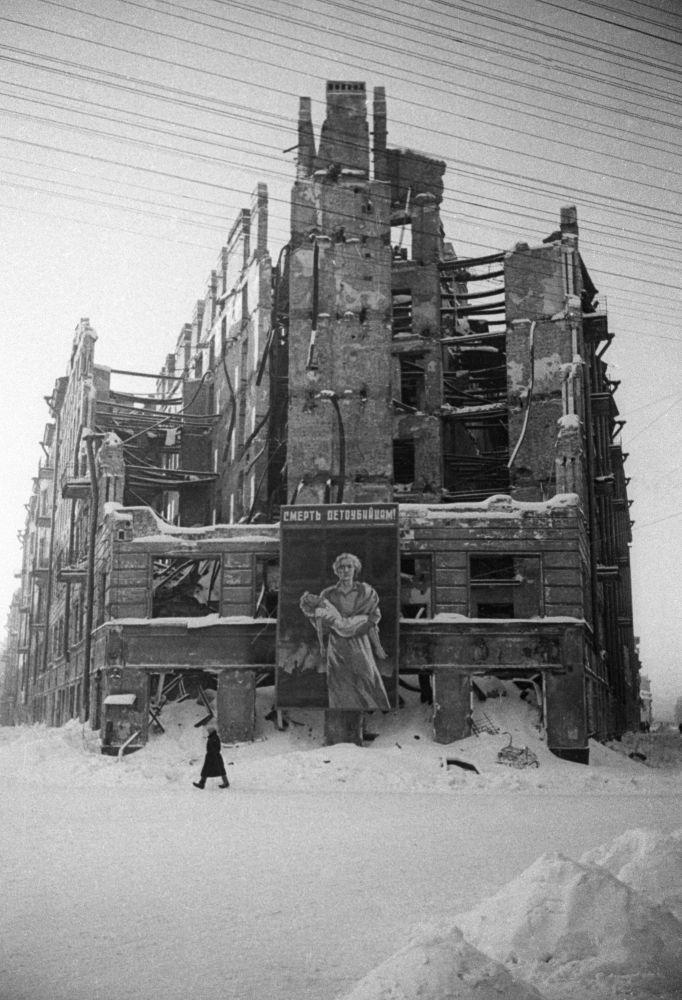 列寧格勒受損的房屋