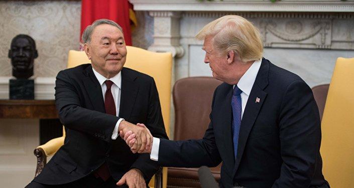哈萨克斯坦总统纳扎尔巴耶夫访美