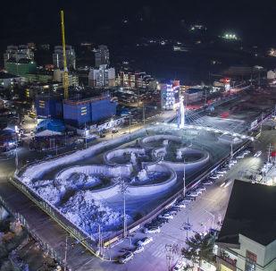 奧運五環雕塑