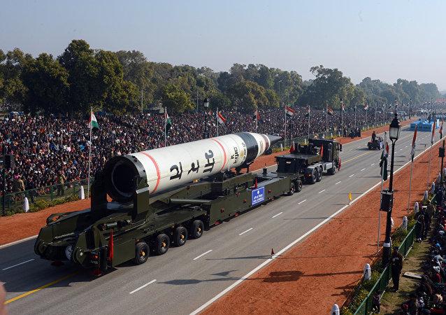 """""""烈火-5""""型弹道导弹,印度"""