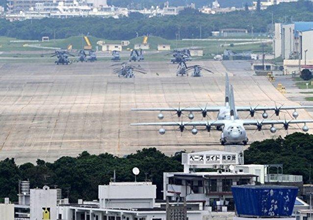 美国冲绳岛基地