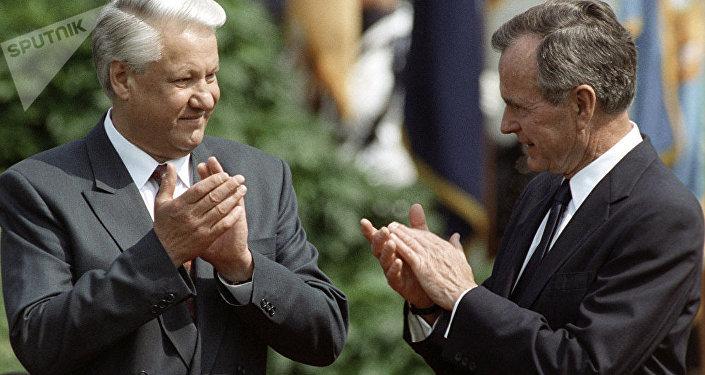 葉利欽和老布什