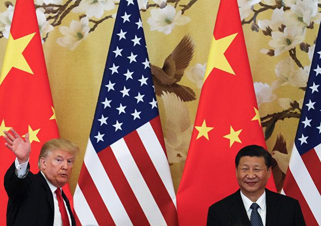 特朗普同习近平交流后表示:中国在继续帮助解决朝鲜问题