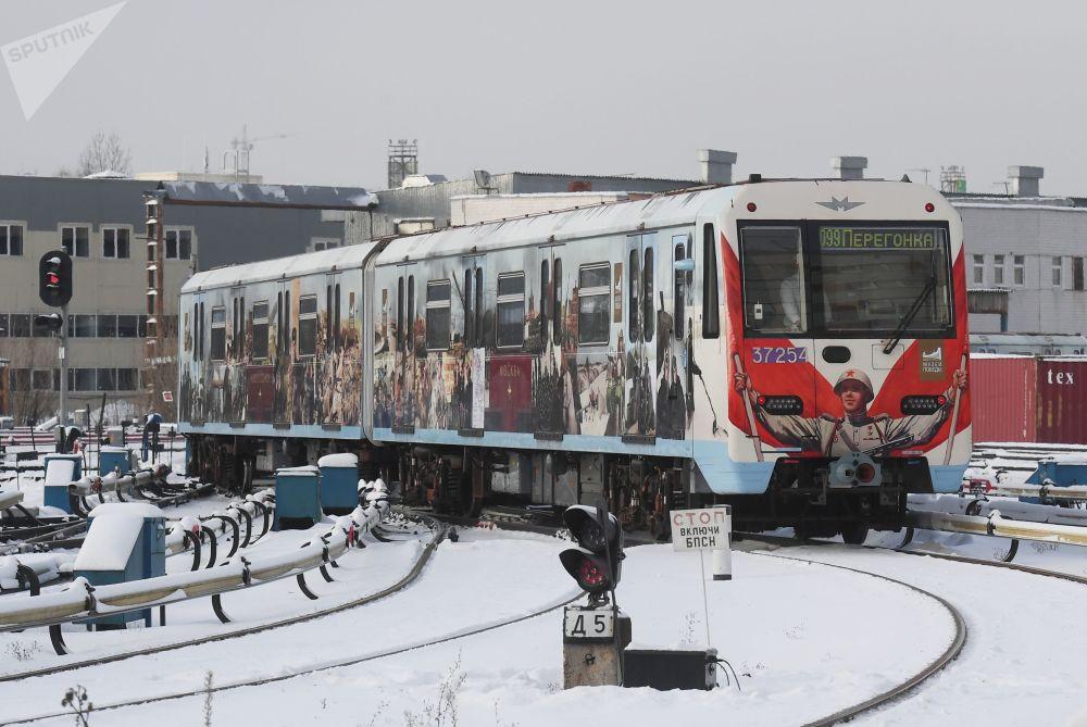 莫斯科地铁胜利主题列车将在未来半年为乘客讲述1941-1945年伟大卫国战争历史。