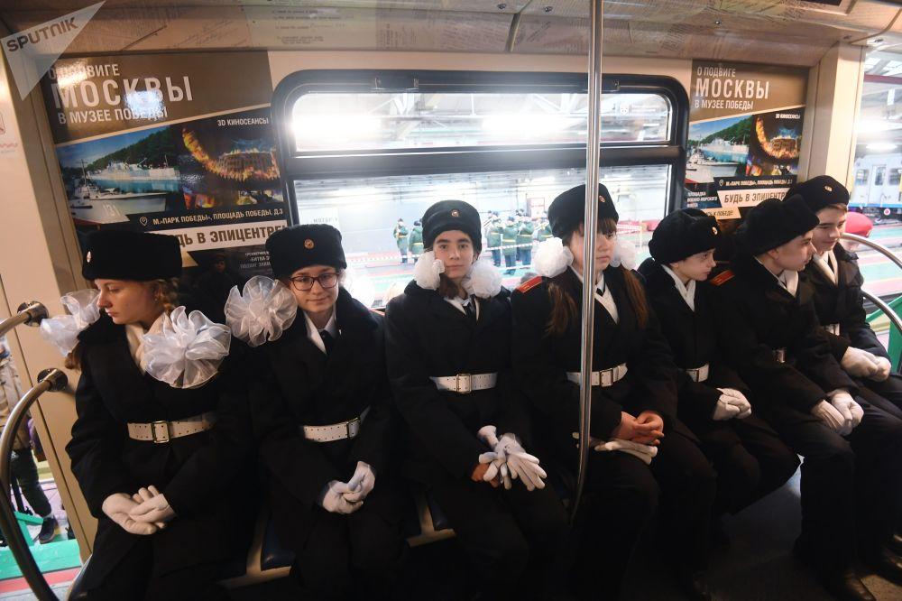 """胜利主题列车将成为俄联邦""""胜利领土""""博物馆项目的一部分。"""