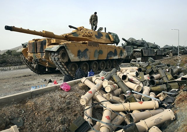 土耳其軍隊在土敘邊境地區