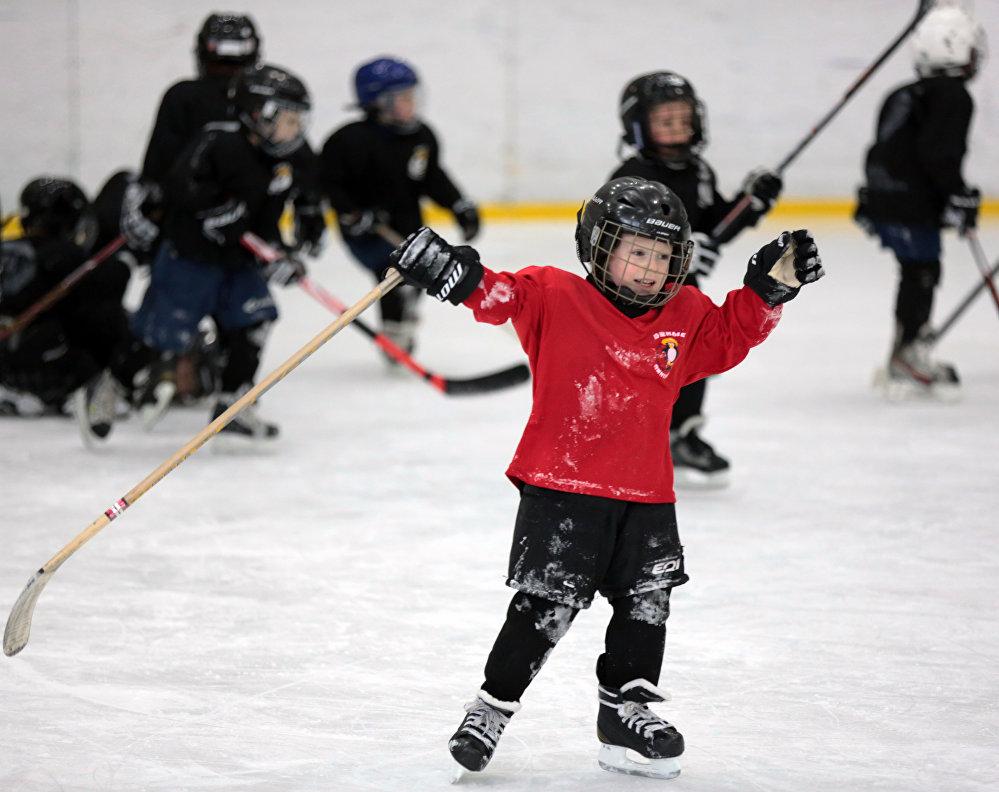 辛菲罗波尔市举行冰球赛