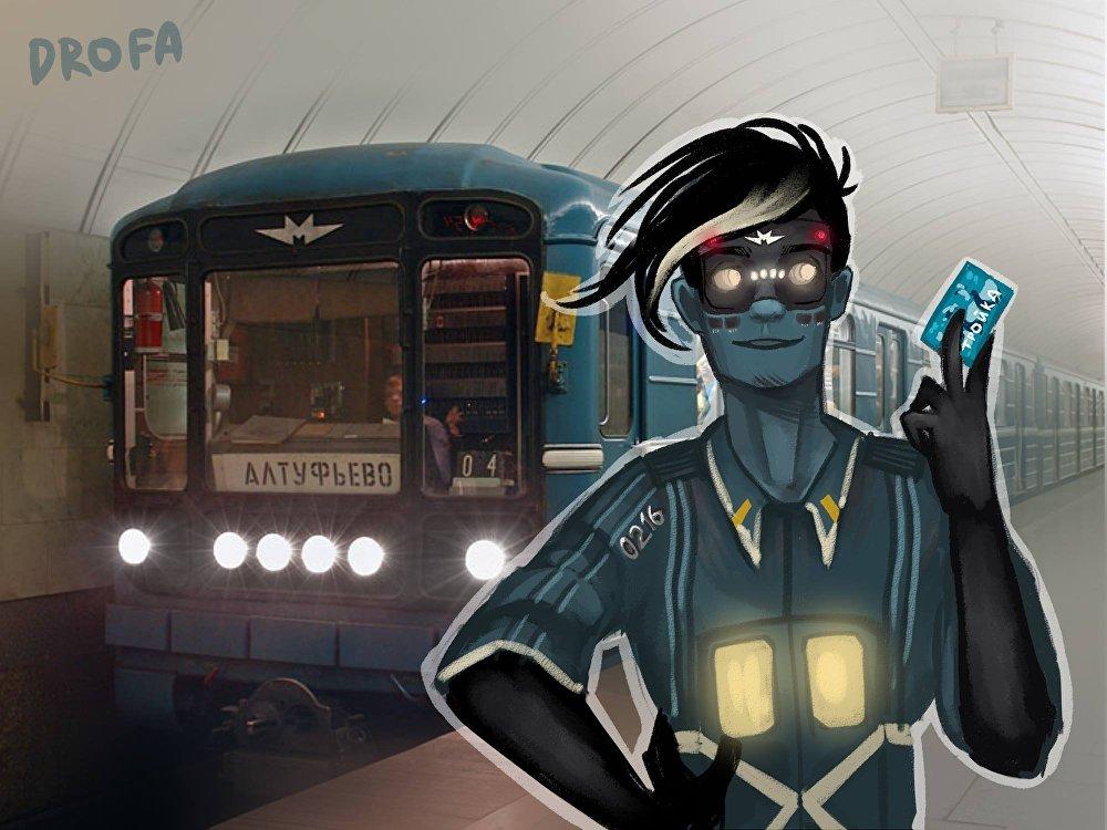 他们在评论索菲亚的作品,给她推荐新的列车,指出画得不准确的地方。  (图为莫斯科地铁用数字命名的列车)