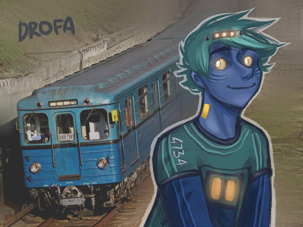铁路刚弄工作人员也注意到了索菲亚的作品。 (图为运行时间最久的莫斯科地铁列车)