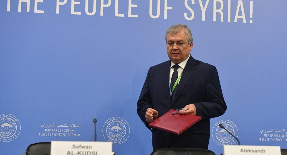 俄代表团在阿斯塔纳与联合国叙利亚问题特使进行会谈