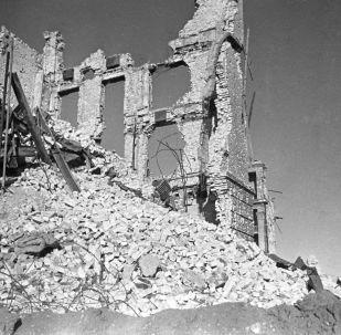 斯大林格勒巷戰中被摧毀的建築,1942年