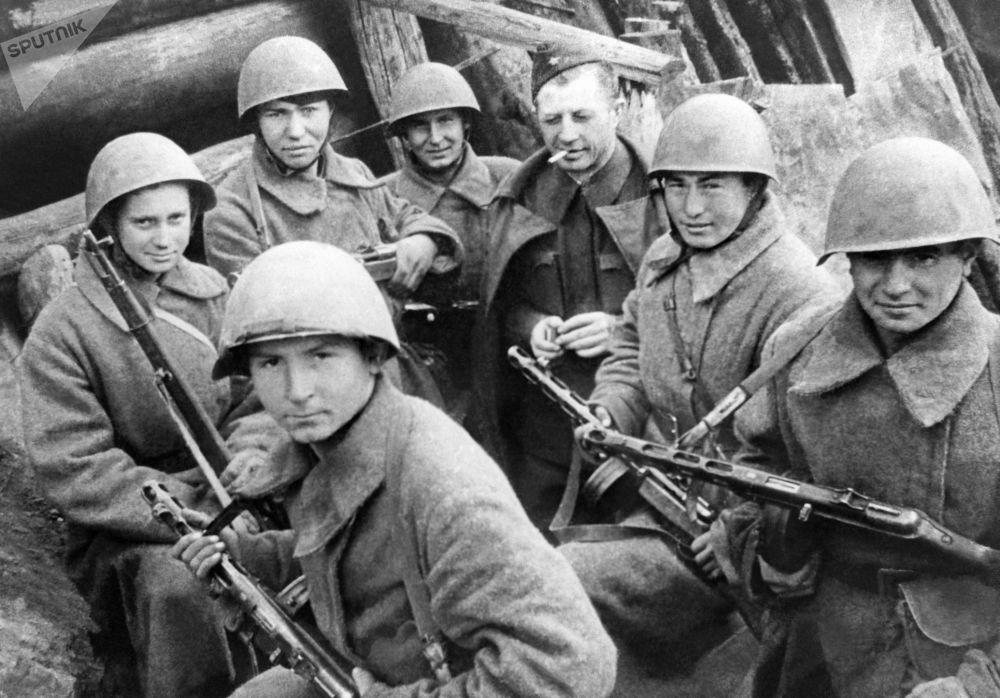 保卫斯大林格勒的苏军战士