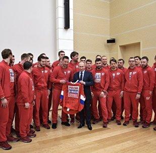 普京與俄奧運健兒的會面