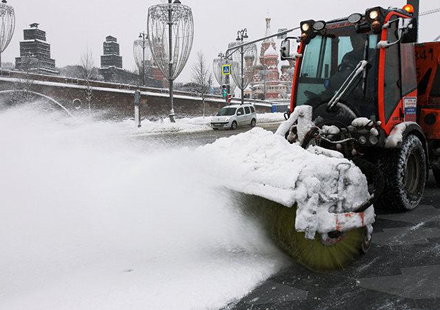 休息日莫斯科的总降雪量将几乎相当于全月的标准