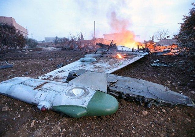 在叙利亚上空被击落后与恐怖分子战斗至死的苏-25SM攻击
