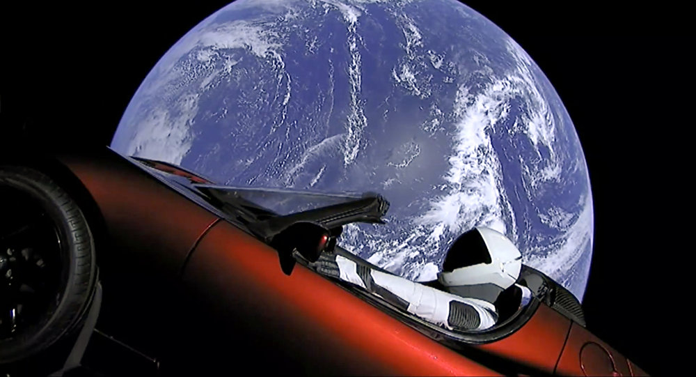 成功發射升空的特斯拉跑車獲衛星編號