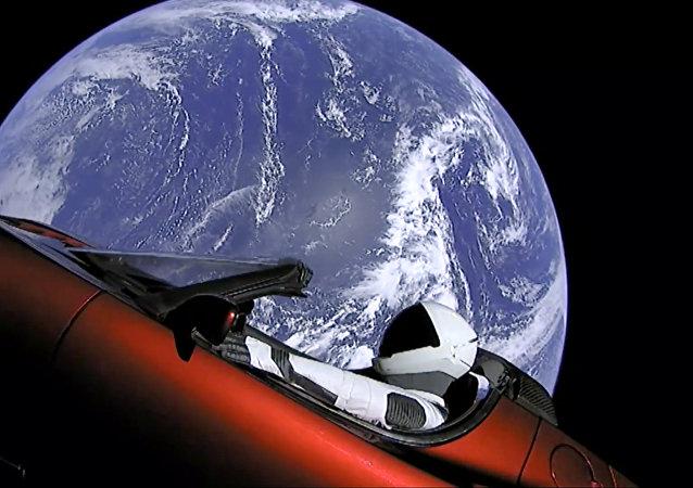 向火星發射的特斯拉跑車