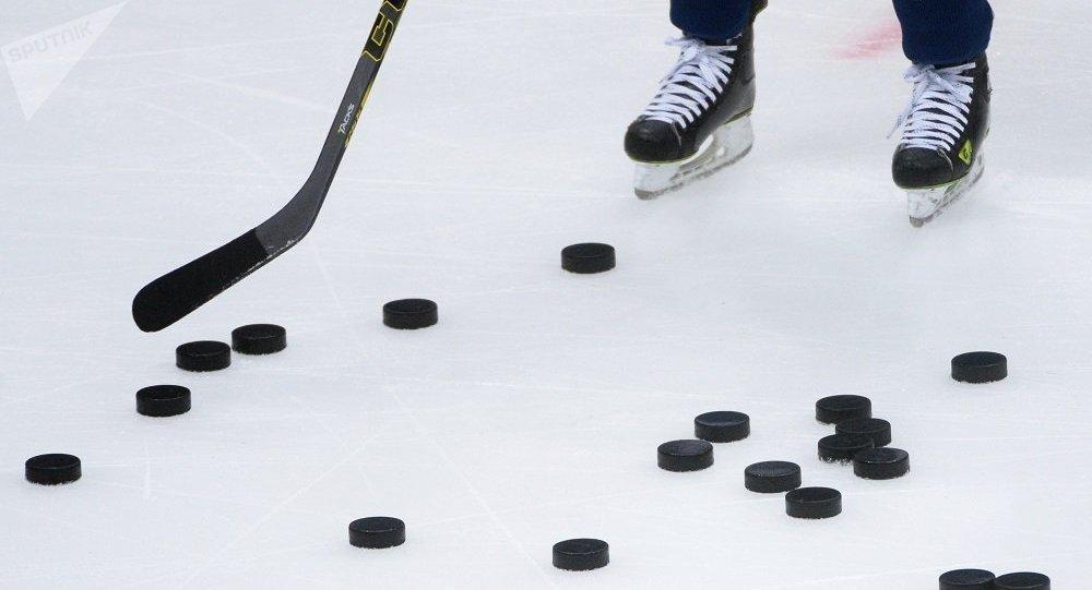 中国少年冰球运动员参加索契比赛