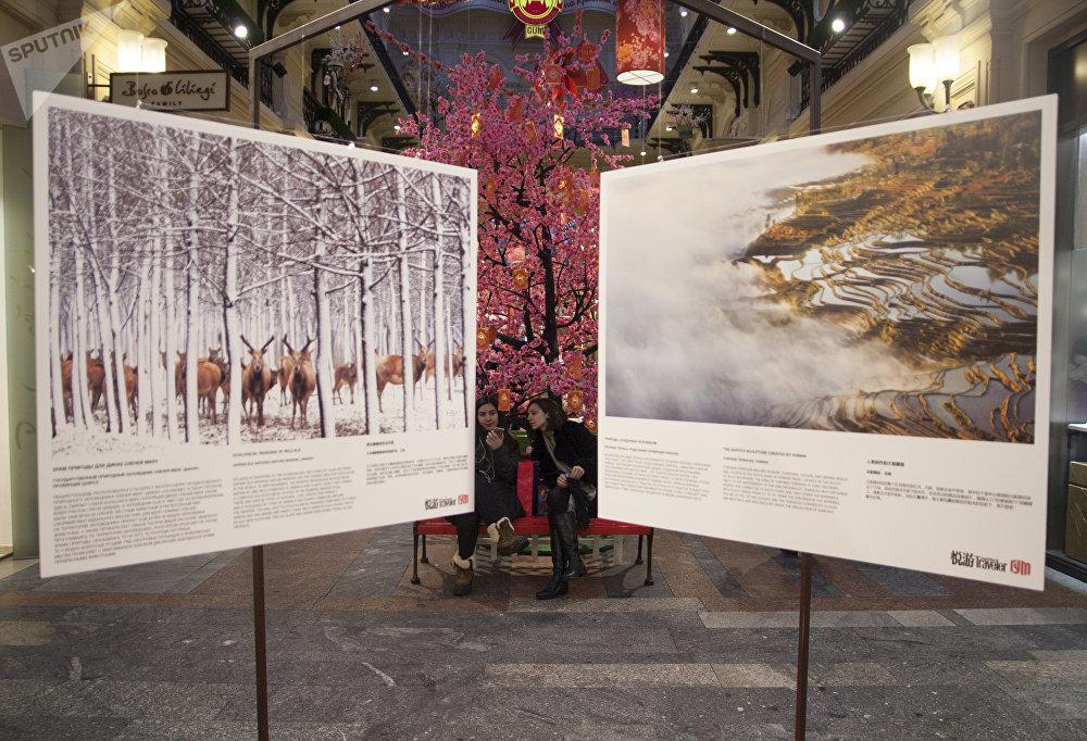 古姆商场喜迎中国新年活动上的中国摄影作品展览