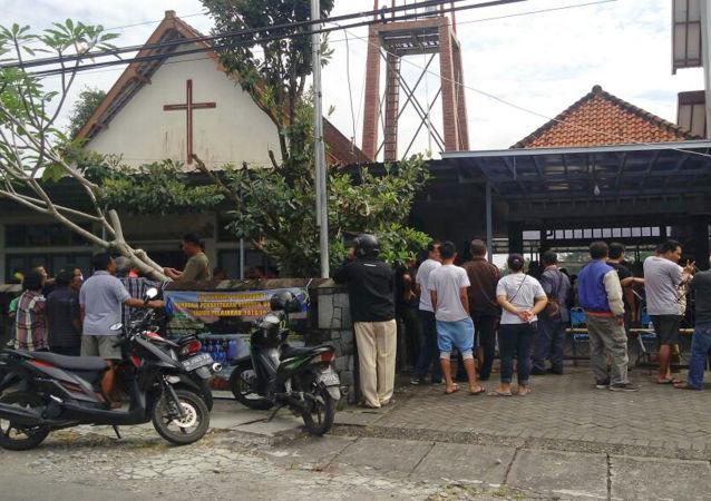 印尼男子持刀襲擊教堂4人受傷
