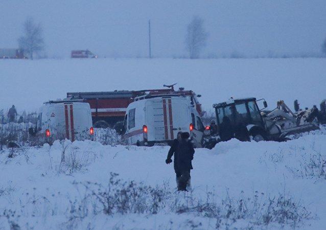 在拉缅斯科耶区发现坠毁的安-148飞机残骸