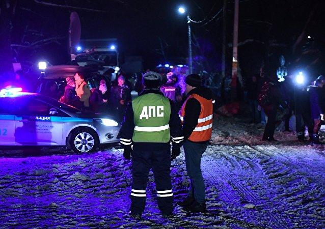 莫斯科市郊的安-148客机坠毁现场