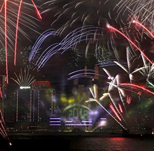 香港因重大交通事故決定取消春節煙花匯演