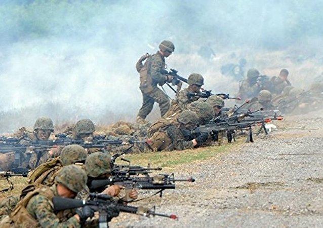 """""""金色眼镜蛇""""年度多边联合军演在泰国启动"""