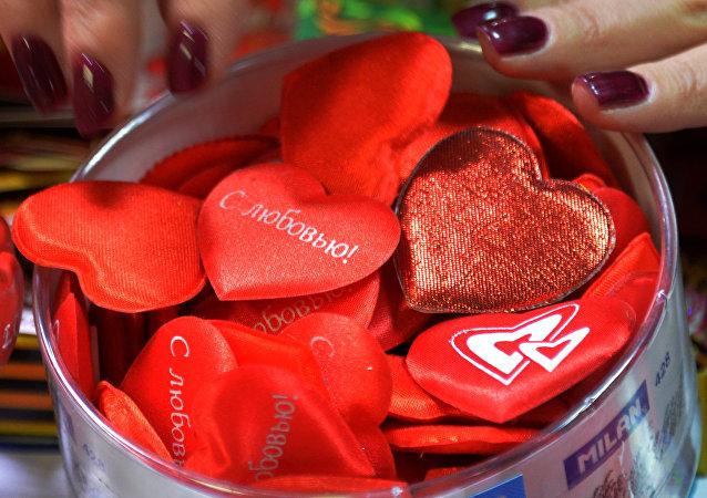 莫斯科人将可免费在地铁里寄情人节贺卡