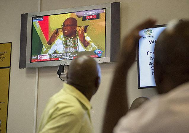 南非总统祖马称立即辞去总统职务