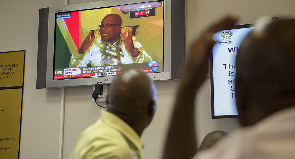 南非總統祖馬稱立即辭去總統職務