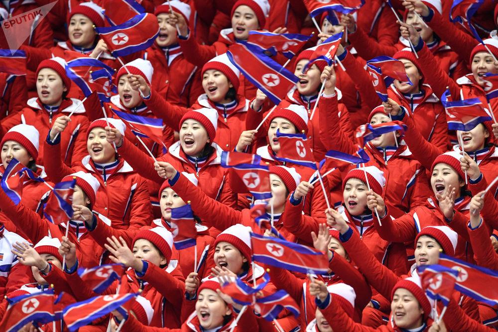 冬奧會上的朝鮮啦啦隊