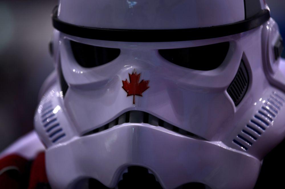 冰球比赛上的加拿大观众