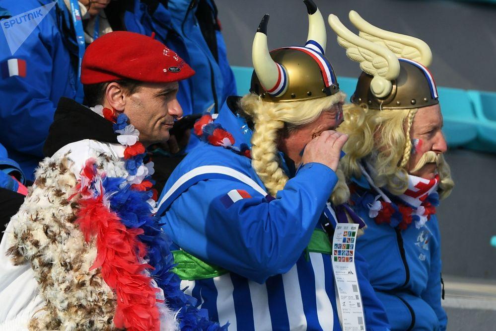 冬奥会上来自法国的观众