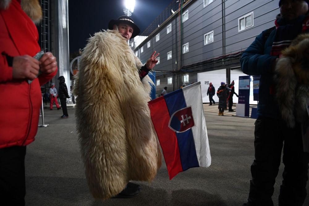 第二十三届冬季奥运会上来自斯洛伐克的观众