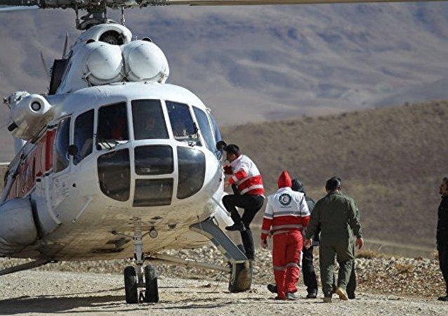 伊斯蘭革命衛隊直升機找到阿塞曼航空公司失事客機的殘骸