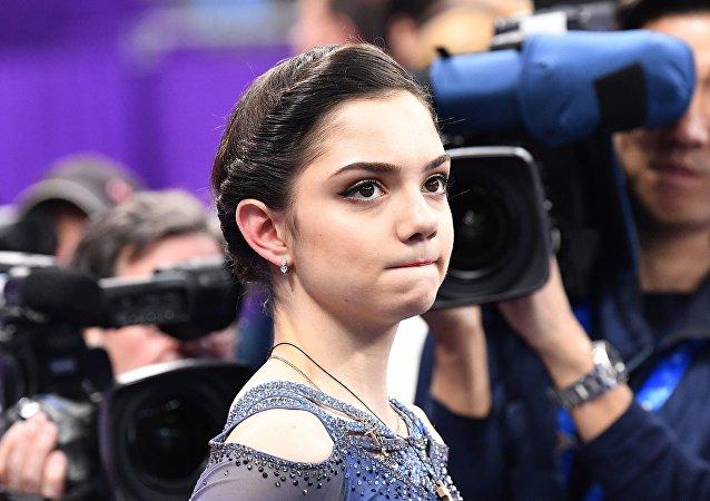 俄罗斯花样滑冰选手叶甫根尼娅·梅德韦杰娃