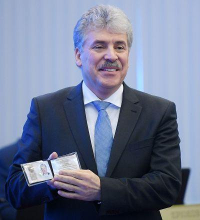俄羅斯聯邦共產黨候選人帕維爾·格魯季寧