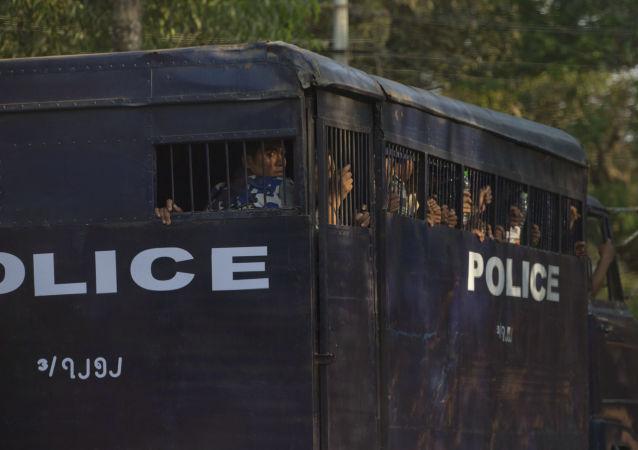 緬甸警方9資料圖片)