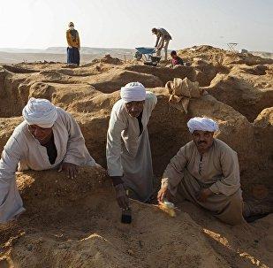 在开罗南部发现了一个带有石棺和宝藏的大型古埃及墓地