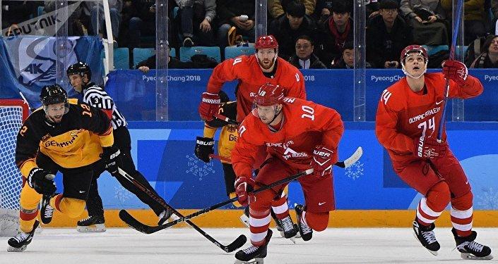 冬奥冰球男子决赛 俄奥运队加时4-3险胜德国摘金
