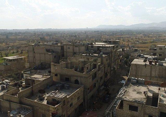 俄軍保障準備撤離敘東古塔的平民安全