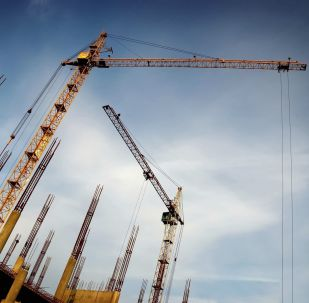 中国一工地发生塔吊折断倒塌事件
